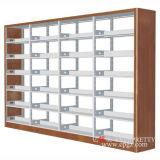 Bibliotheks-Regal-Entwurfs-Bildschirmanzeige-Zahnstange