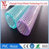 Transparent souple Flexible transparente en PVC tressé en fibre