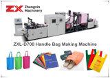 Bolsa de tejido no tejido que hace la máquina en línea con la fijación de empuñadura Zxl-D700