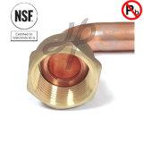 Rame d'ottone senza piombo approvato del NSF accoppiamento del tester del gomito da 90 gradi