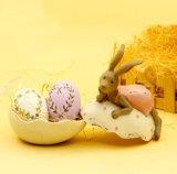 Easter que decora o ovo com série da alfazema