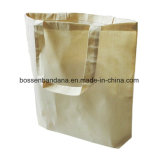 Produtos OEM de fábrica o logotipo personalizado Imprimir lona de algodão branco Tote Sacola de Compras com reforços