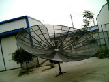 Bande satellite de C 9 pieds de 300cm/3m de support polaire de maille d'antenne parabolique en aluminium d'usine de la Chine