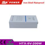 5V 40A 200W de luz LED de hierro Rainproof Cartelera HTX