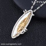 43235 Xuping Entwurfs-Form-Schmucksachen, Kristalle von der Swarovski Weiß-Halskette