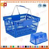Store Mall à double poignée en plastique panier Chariot de supermarché (Zhb133)