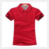 Melhor qualidade promocionais barato logotipo personalizado Mulheres em branco de algodão Amarelo Polo camisa T
