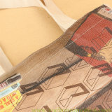 Хозяйственная сумка мешка Tote холстины хлопка печати