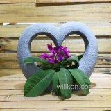 De met de hand gemaakte Nieuwe Pot van de Bloem van de Vorm van het Hart van de Magnesia van de Decoratie van de Tuin van het Ontwerp