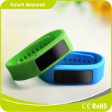 Pulsera elegante de Bluetooth con el monitor del sueño del contador de la caloría del podómetro