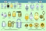 Kundenspezifische runde Form-Zink-Legierungs-Miniverschlüsse mit Schlüssel