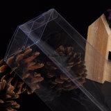 Rectángulo plástico de encargo del doblez claro/transparente para el rectángulo de empaquetado de empaquetado del regalo de la ampolla del regalo