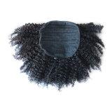 ブラジルの人間の毛髪のバージンの巻き毛のポニーテールの自然な毛10inch