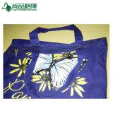 10oz 파란 면 화포 끈달린 가방, 관례 지퍼를 가진 100%년 면 끈달린 가방