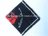 China-Fabrik-Erzeugnis passte Firmenzeichen gedruckten BaumwolleHeadwear Bandana des Zoll-22*22 an