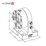 EDM morrem afundar o único mandril automático horizontal para a máquina 3A-100034 do CNC