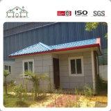 Nuevos rápidos instalan la casa de acero ligera prefabricada concreta casera del chalet