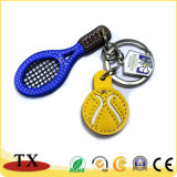Creative Badminton Custom Leather Key Chain
