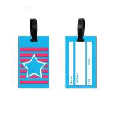 Logotipo personalizado a granel de venda quente feitos de PVC 3D da etiqueta de bagagem com tamanho padrão
