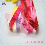 Kleurrijke Hete Verkoop 100% de Afgedrukte Punten van het Satijn van de Polyester Lint