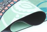 Microfiber 표면을%s 가진 인쇄된 고무 그립 요가 매트