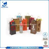 L'éco conception réutilisable vin colorée sac de papier personnalisé