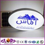 Casella chiara LED del segno acrilico ovale della visualizzazione che fa pubblicità al contrassegno