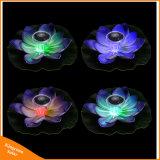 정원 수영장 연못 샘 훈장 태양 램프를 위한 뜨 로터스 태양 가벼운 달맞이꽃 램프
