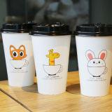 Togliere le tazze a parete semplice di marchio su ordinazione a gettare delle tazze di carta del caffè