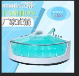 Vasca da bagno moderna indipendente di stile con l'indicatore luminoso del LED (5218)