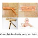 Brinquedos de madeira do malho do bloco de tom da música de faixa do ritmo do instrumento musical dos miúdos