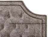 Quarto macio couro mobiliário clássico Cama de Casal Definido