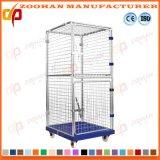 Recipiente de aço de dobramento Stackable do rolo do metal da gaiola do armazenamento do armazém (Zhra36)