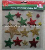 Блестящие цветные лаки рождества окна желе гель наклейки рождественские украшения