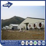 Granja avícola ventilada túnel ligero de la estructura de acero para la parrilla