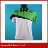 Fabricante verde das camisas do polo T dos meninos por atacado da boa qualidade (P86)