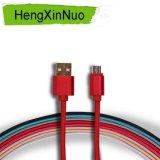 최신 판매 나일론 땋는 USB 케이블 인조 인간 마이크로 데이터 케이블