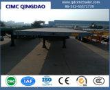 Cimc 40FT планшет Полуприцепе с 3 МФЖПЖС мосты в Танзанию шасси погрузчика