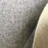 編まれた毛織の二重味方されたウールファブリック