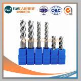 Los molinos de extremo de carburo de tungsteno con 2-6 Flautas