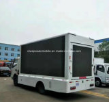Высокое качество напольное СИД колес Dongfeng 6 рекламируя тележку