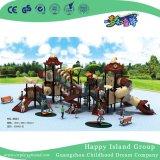 Для использования вне помещений малым коричневый овощей детей на крыше сдвиньте игровая площадка с оборудованием (ПОВ Hg-9502)