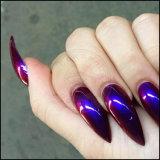 Unicorn Neon Camaleón de sirena de esmalte de uñas espejo cromado pigmento