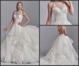 Спагетти ремни свадебные платья кружева Appliqued Organza устраивающих платье H21618 шаровой опоры рычага подвески