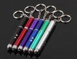 подарок для продвижения лазерная указка& Mini светодиодный фонарик с писать пером и цепочке для ключей