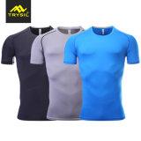 Camicia stretta di forma fisica di compressione degli uomini maschii di usura