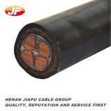 обшитые резиной гибкие силовые кабели шахты 0.38/0.66kv