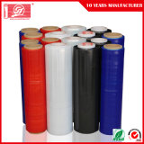 Color rojo en el film estirable LLDPE práctico Wrap Envoltura Palet Stretch film