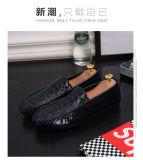 Новая линия фасоль крокодила обувает прямые связи с розничной торговлей фабрики ботинка способа людей мыжской корейской кожи варианта Breathable яркой ленивые управляя одиночные