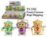 Het grappige Nieuwe Overslaande Stuk speelgoed van de Baby van de Kabel van het Beeldverhaal